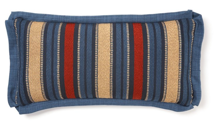 Western Stripe 12x24 Pillow, Navy/Multi