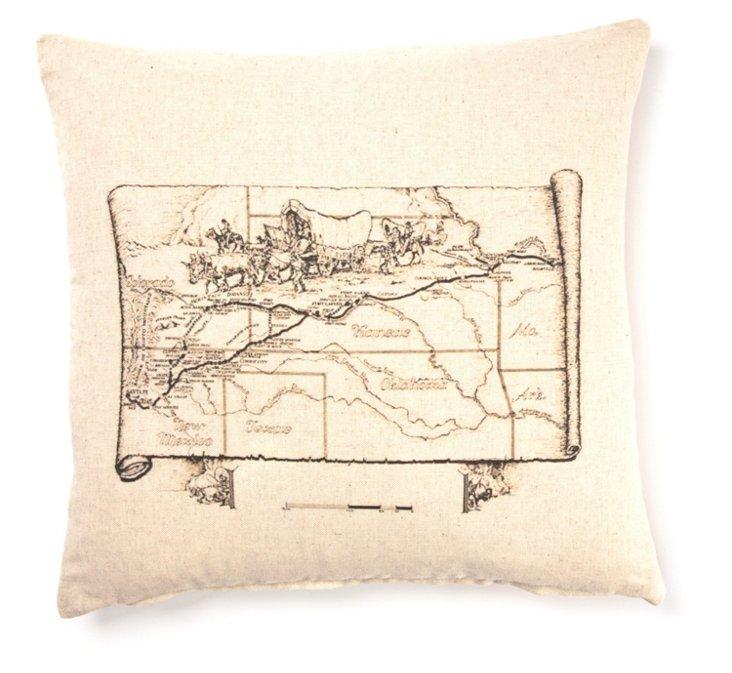 Trail 20x20 Linen Pillow, Cream