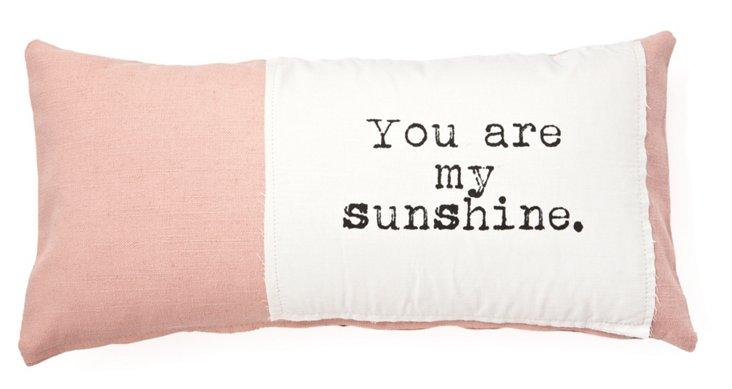 """My Sunshine"" 12x24 Pillow, Pink"