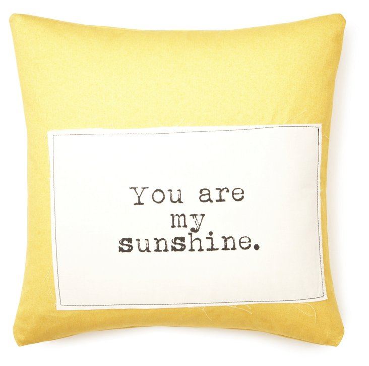 """My Sunshine"" 20x20 Pillow, Yellow"