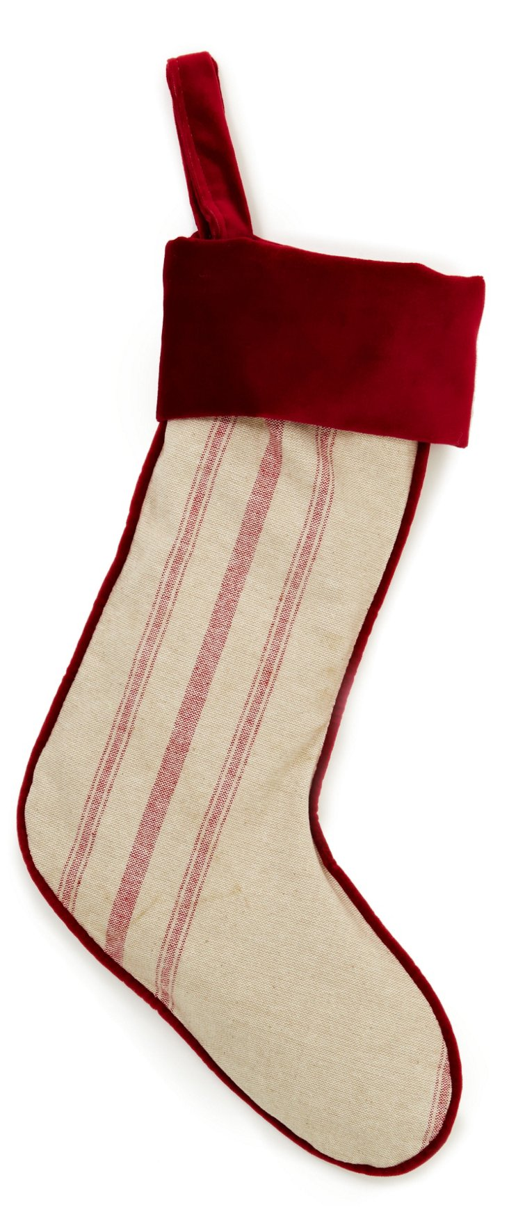 Striped Stocking, Red