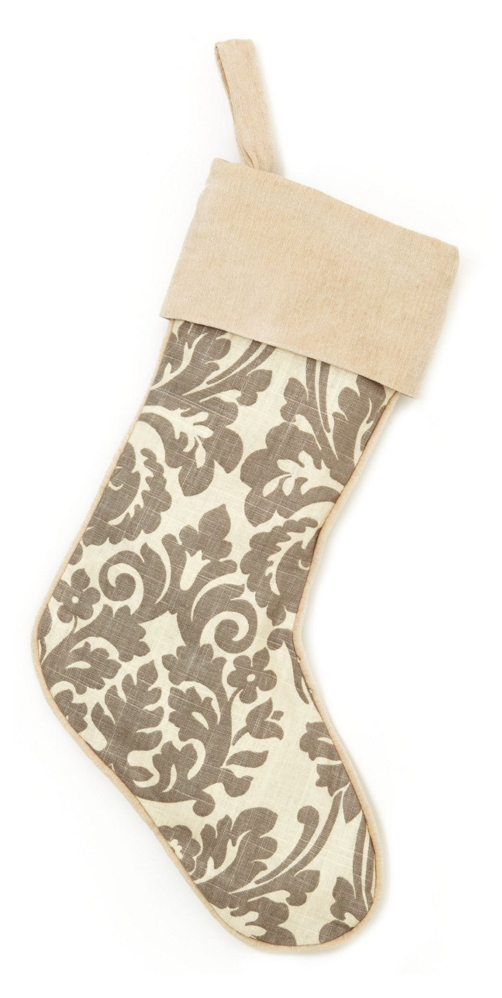 Damask Stocking, Gray