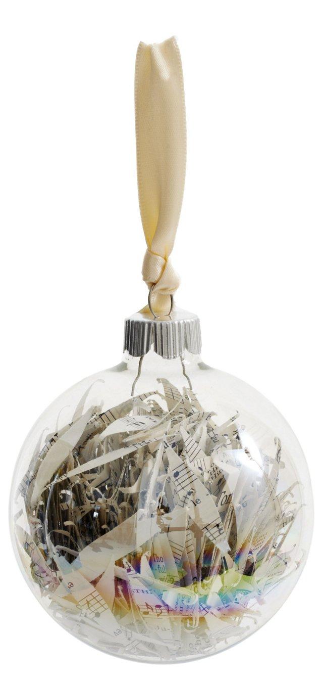 Sheet Music Glass Ball Ornament