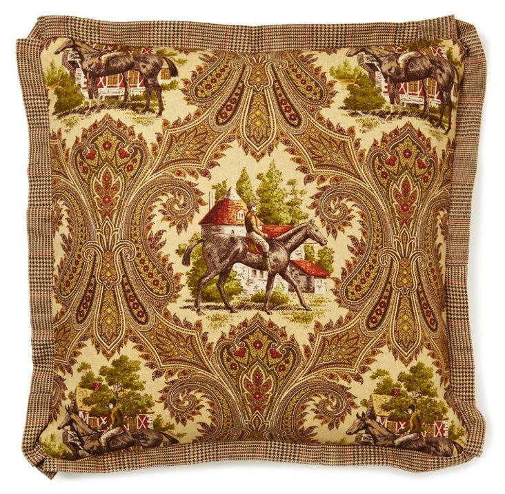 Equestrian 20x20 Pillow, Brown