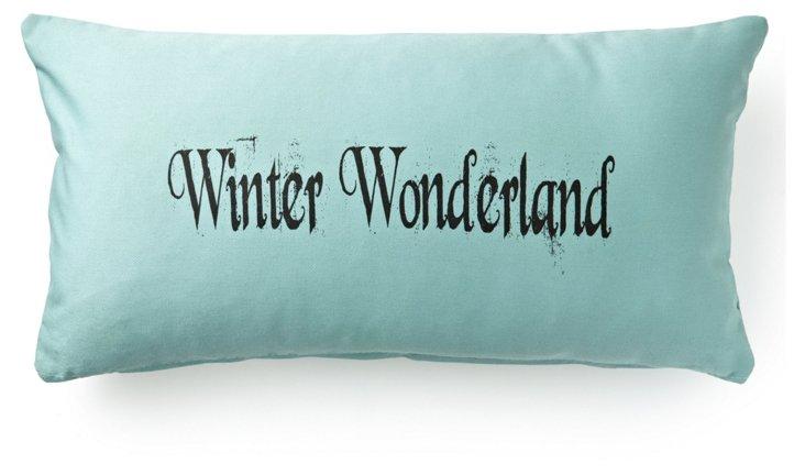 Winter Wonderland 12x24 Pillow, Blue