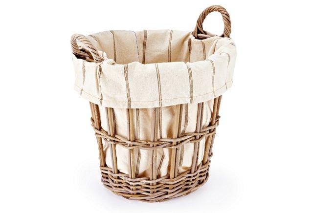 Cream Wicker Basket, Small