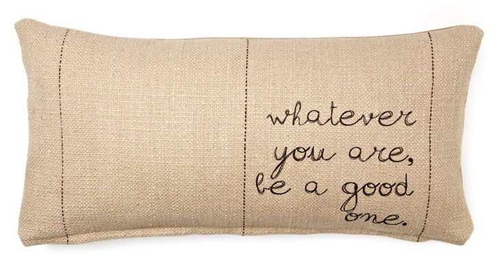 """Whatever You Are"" 12x24 Pillow, Natural"