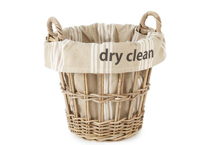 """Dry Clean"" Stripe Basket"
