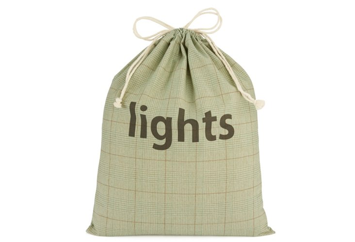 "XL Spa Tweed Drawstring ""Lights"" Bag"