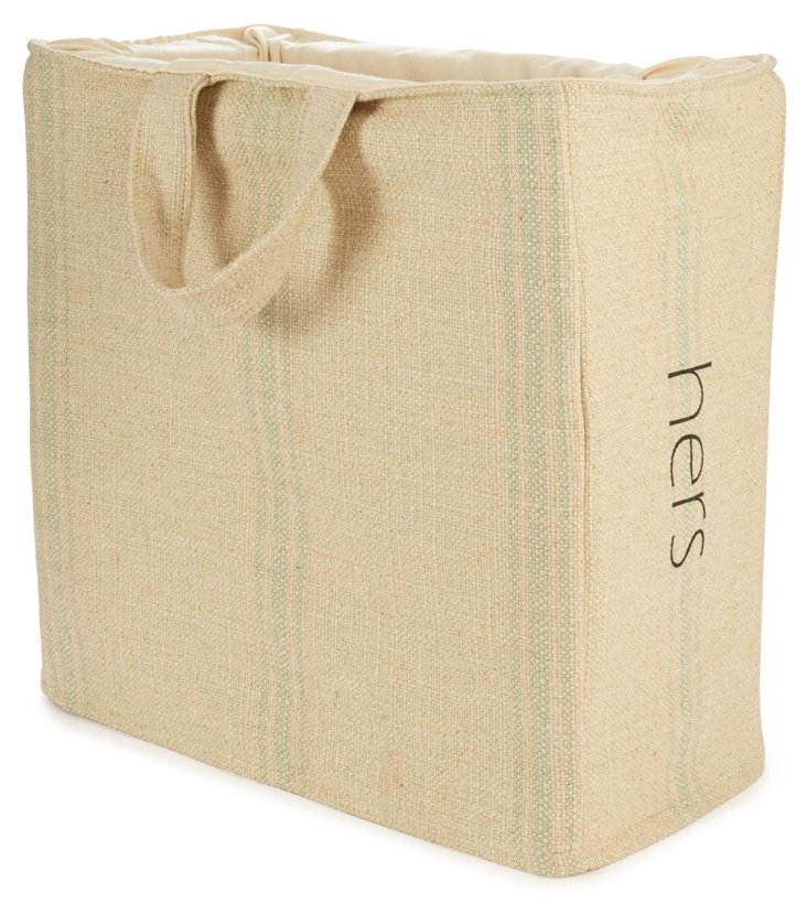 """""""Hers"""" Laundry Tote, Classic"""