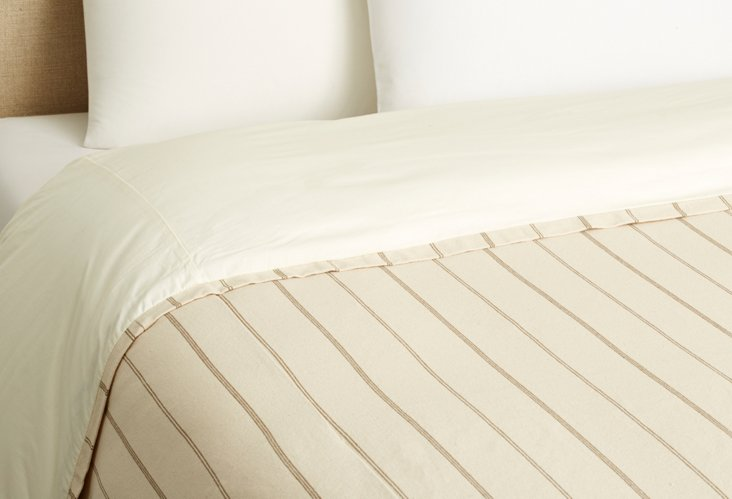 Neutral Stripe Duvet Cover, Natural