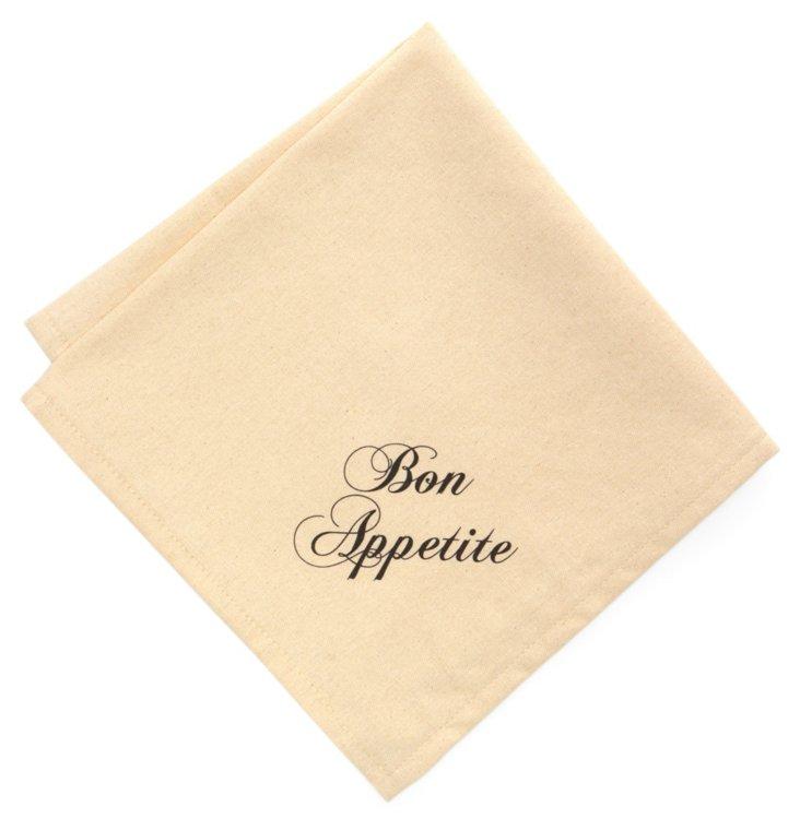 S/4 Bon Appetite Dinner Napkins