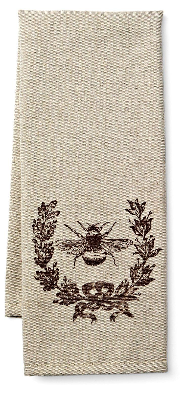 S/2 Bee Wreath Tea Towels
