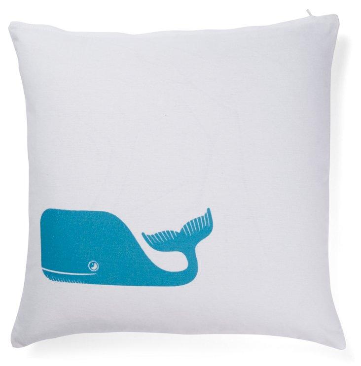 Whale 20x20 Pillow, Blue