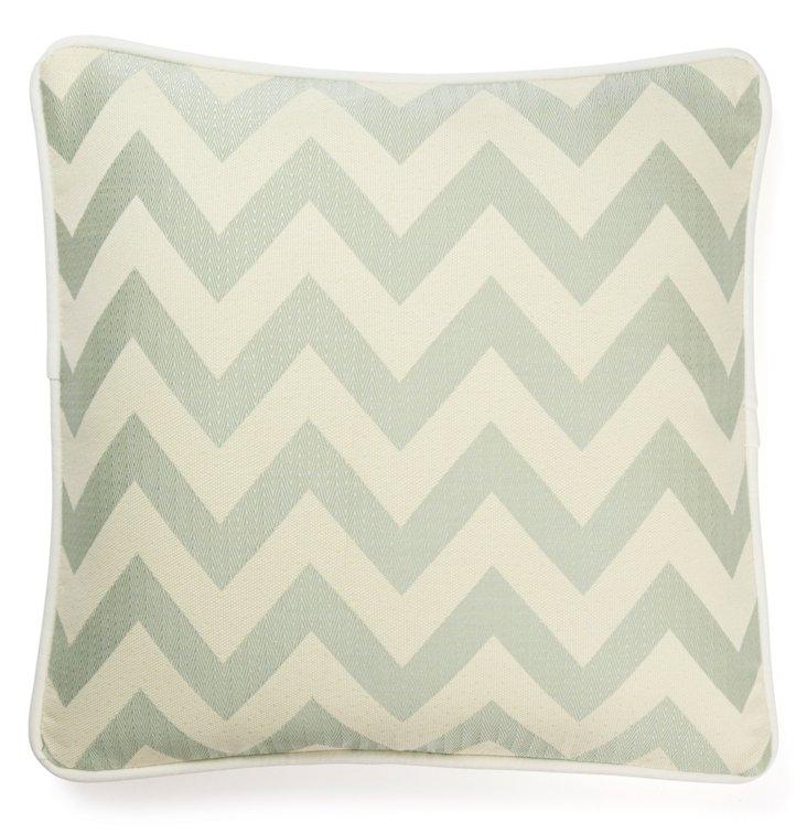 Chevron 20x20 Cotton Pillow, Mist