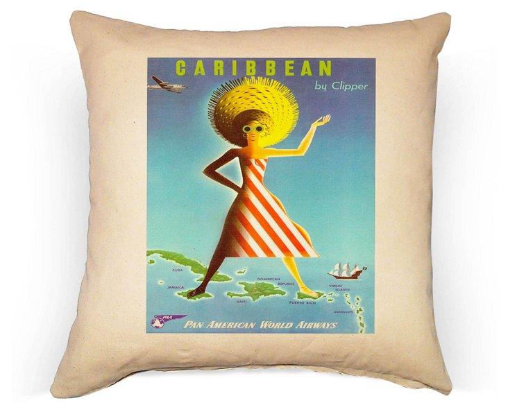 Caribbean Girl 20x20 Pillow, Multi