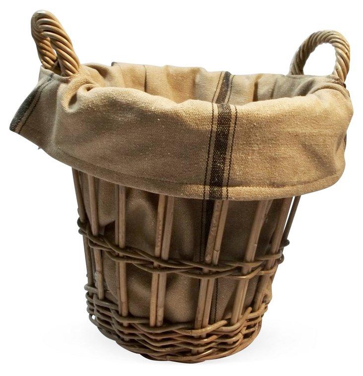 Black Ticking Stripe Liner/Basket, Lg
