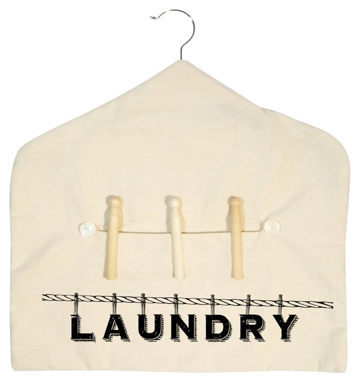 Canvas Clothes Pin Holder, Laundry