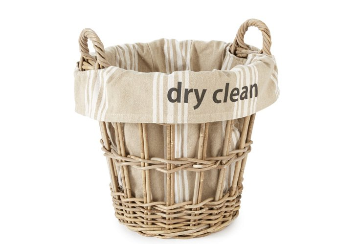 """Dry Clean"" Stripe Basket, Large"