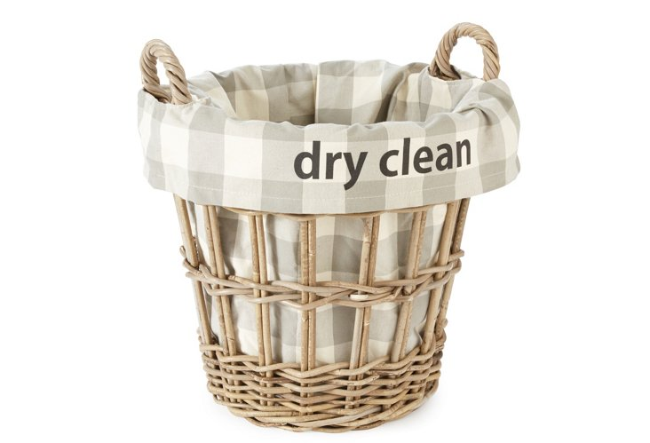 """Dry Clean"" Check Basket, Large"