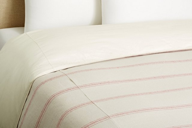 Buttermilk Stripe Duvet, Red