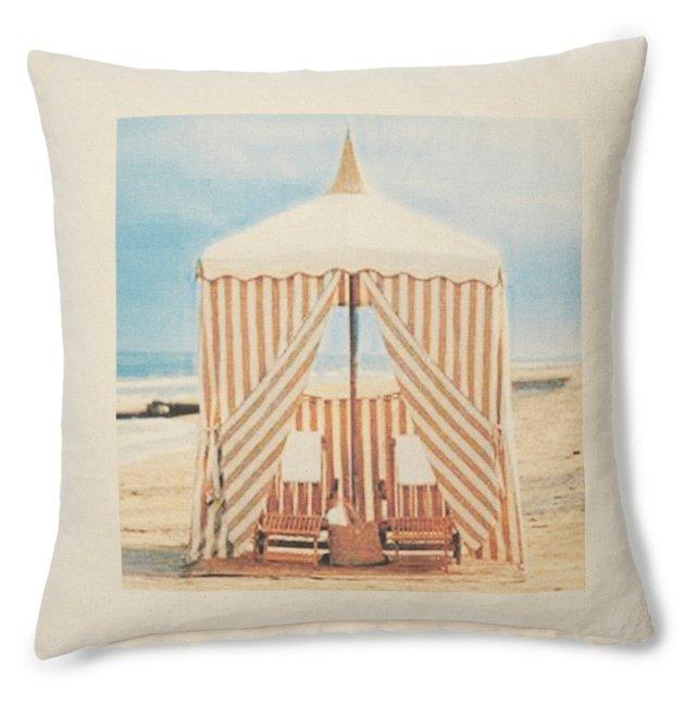 Cannes Cabana 20x20 Pillow, Natural