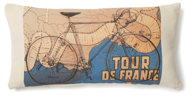 Tour De France 10x20 Pillow, Natural