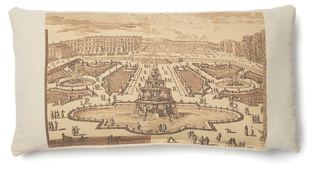 Versailles Palace 10x20 Pillow, Natural