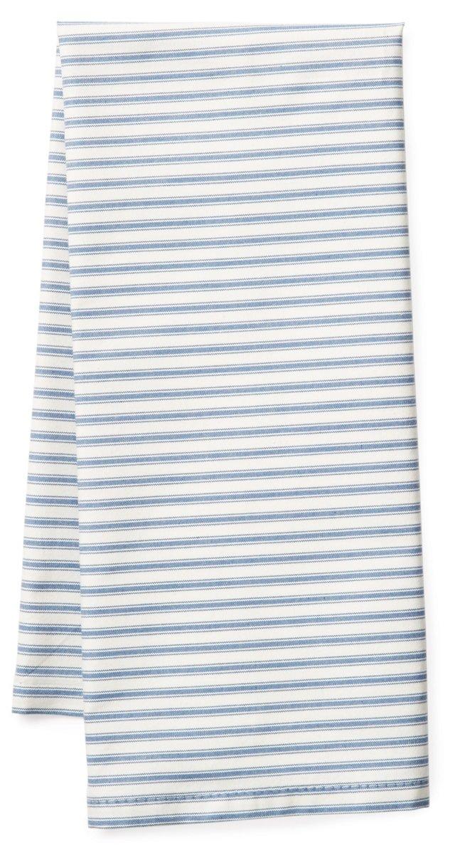 S/2 Striped Tea Towels, Blue