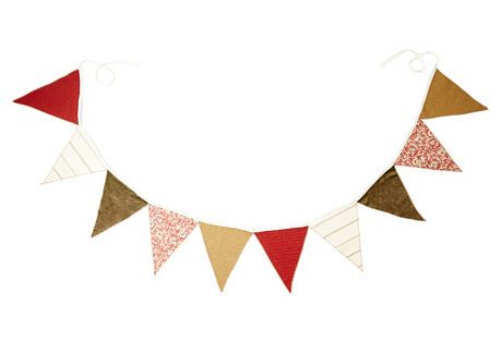 12' Fabric Garland, Red/Multi