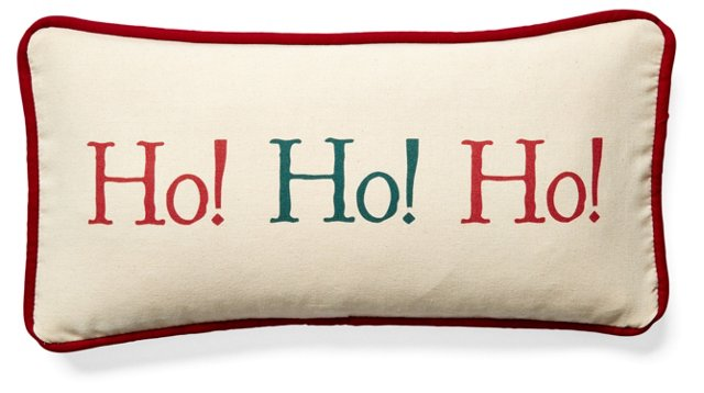 Ho!Ho!Ho! 10x20 Pillow, Beige