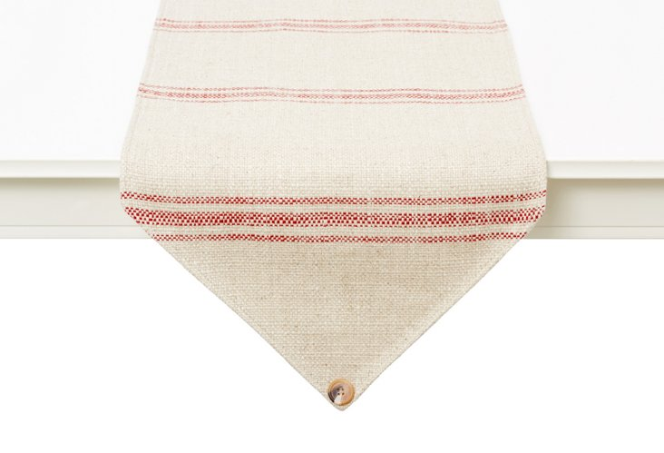 Striped Table Runner, Red