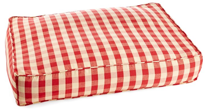 Buffalo Check Pet Bed, Red/Gold