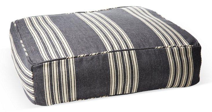 Homestead Stripe Dog Bed, Black
