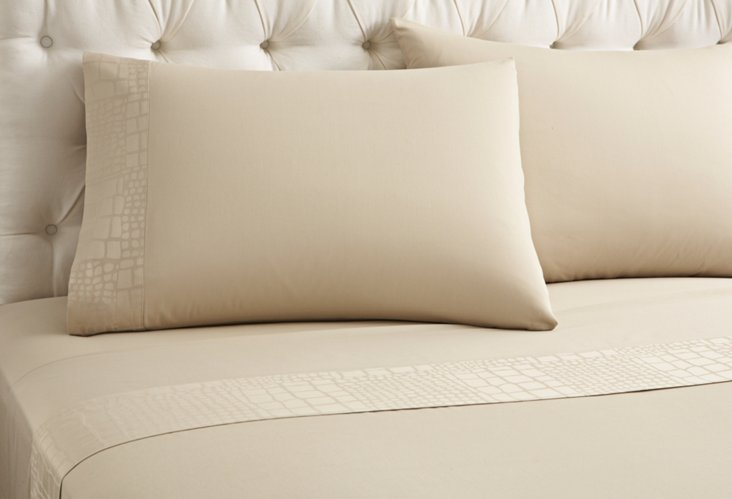 Alli Bordo Fitted Bed Set, Roccia Sand