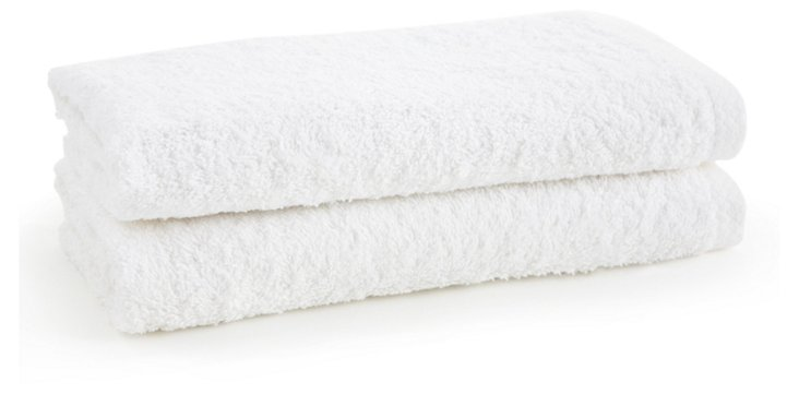 S/2 Nico Hand Towels, White