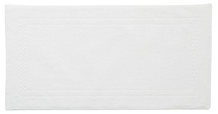 Checkerboard Bath Mat, White