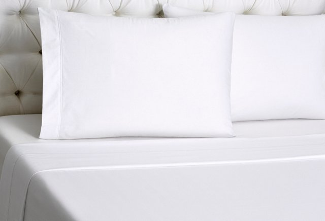 King Bourdon Fitted Sheet Set, White