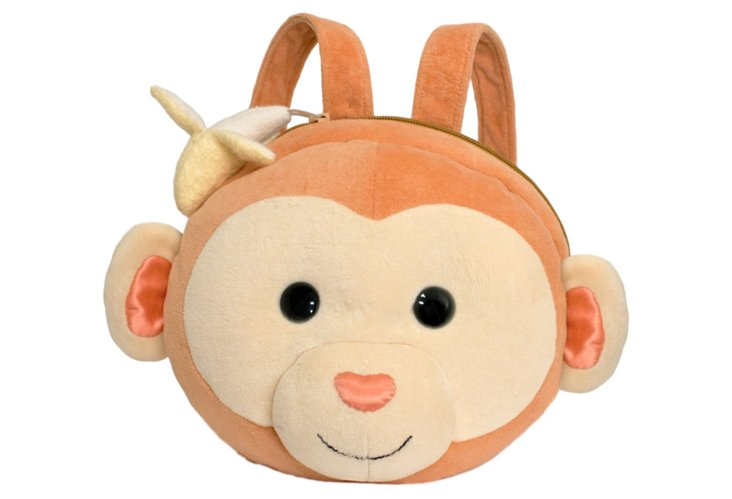 Baby Monkey Backpack, Brown/Taupe