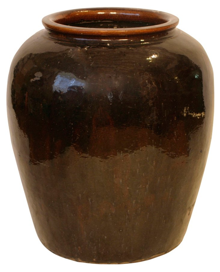 Medium Glazed Ceramic Water Jar