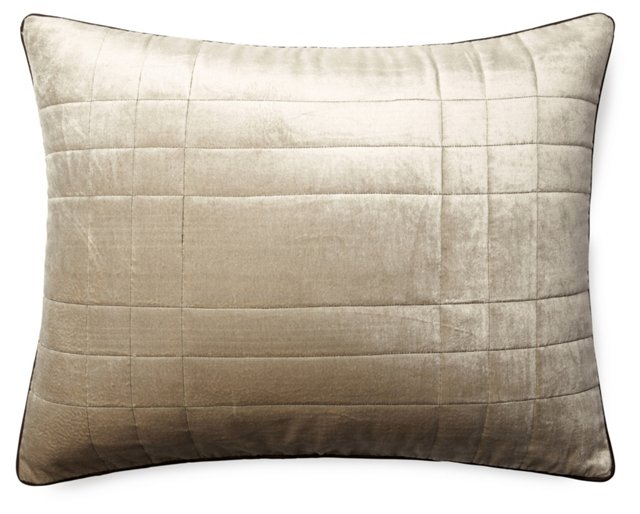 Net 20x26 Velvet-Blend Pillow, Gold