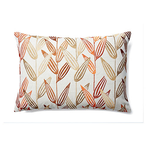 Branches 14x20 Embroidered Pillow, Gold