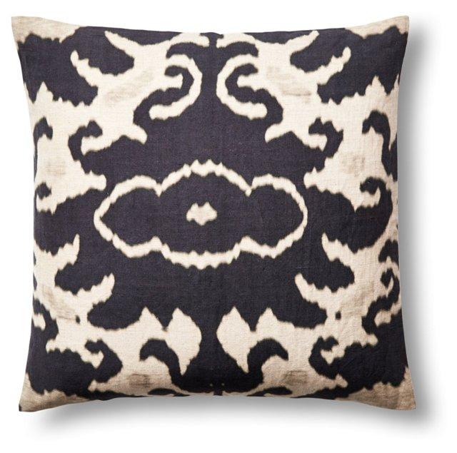 Marie 20x20 Linen Pillow, Black