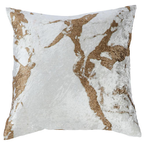 Ryan 18x18 Velvet Pillow Cover, Gold