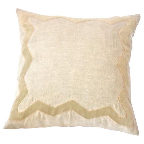 Adela 20x20 Linen Pillow, Beige