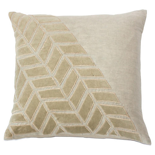 Pia 20x20 Linen Pillow, Beige