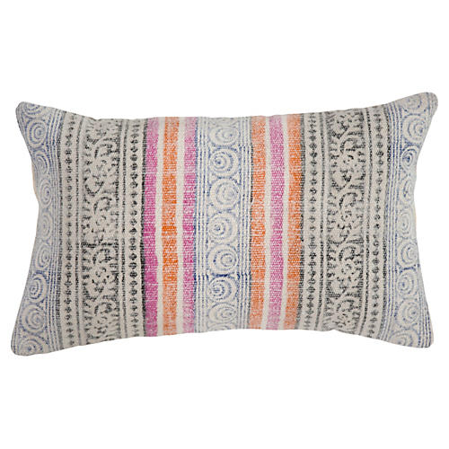 Adri 14x20 Cotton Pillow, Pink