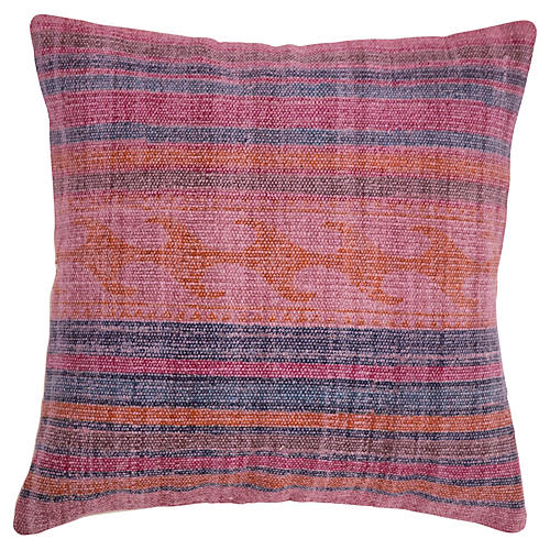 Cameron 18x18 Cotton Pillow, Pink