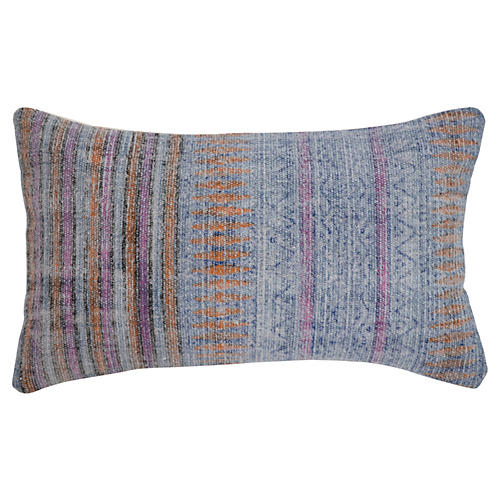 Jane 14x20 Cotton Pillow, Blue
