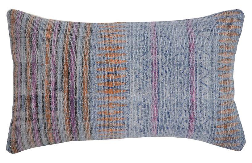 Jane 14x20 Cotton Pillow, Blue